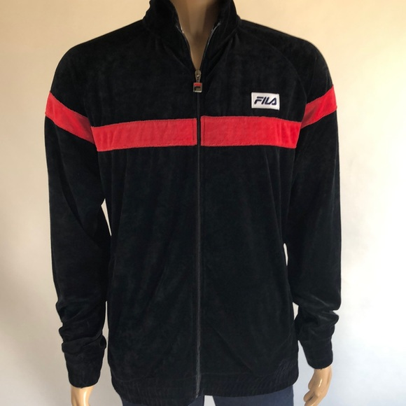 NWT! XL FILA Velour Men's XL Jacket old School